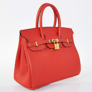 Birkins 25 red gold hardware 25 x 20 x 13 cm