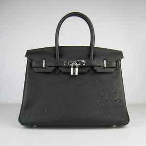 Birkins 30 black silver hardware
