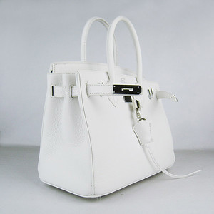 Birkins 30 white silver hardware