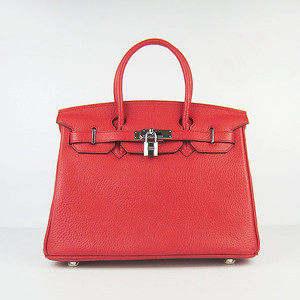Birkins 30 red silver hardware