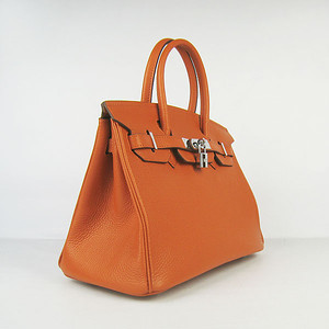 Birkins 30 orange silver hardware
