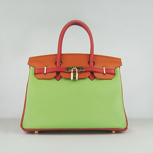 Birkin 30CM  Red-Orange-Green 6088 Gold