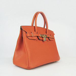 Birkins 30 orange gold hardware