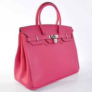 Birkins 35 hot pink silver hardware