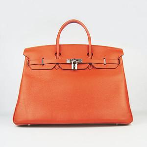 Birkin 40CM Orange H40 Silver