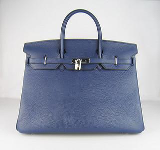 Birkin 40CM Dark Blue H40 Silver