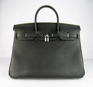 Birkin 40CM black H40 Silver
