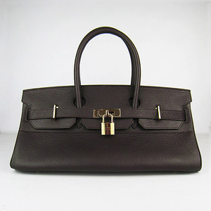 Birkins 42 dark brown gold hardware