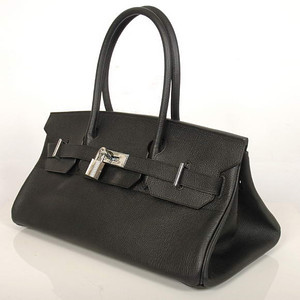 Birkins 42 black silver hardware