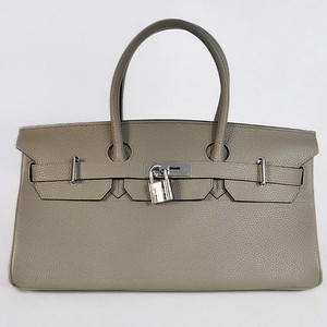 Birkins 42 grey silver hardware