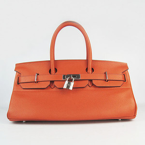 Birkins 42 orange silver hardware