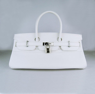 Birkins 42 white silver hardware