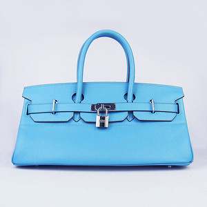 Birkins 42 light blue silver hardware
