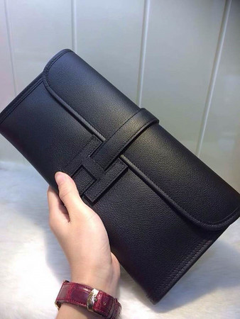 Black hermes Epsom clutch