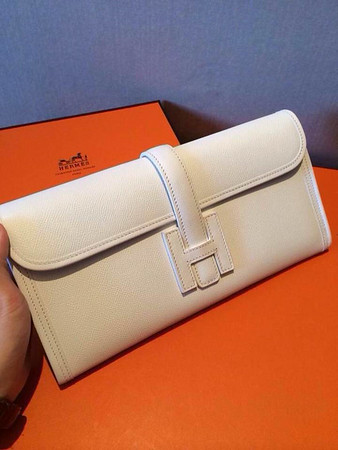White hermes Epsom clutch