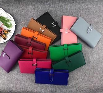 Hermes Epsom leather bearn wallet