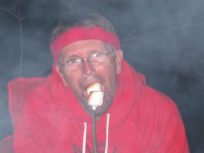 Jon eating smores