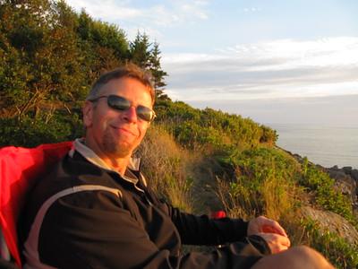 Jon enjoying sunset