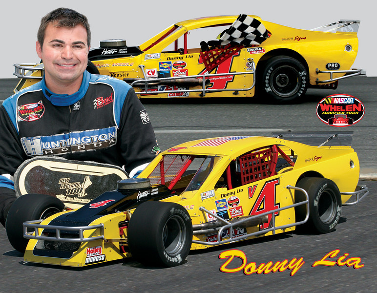 Donny Lia, NASCAR Whelen Modified Tour, NASCAR Modified Drivers, Whelen Modified Tour Hero Cards, NASCAR Hero Cards,
