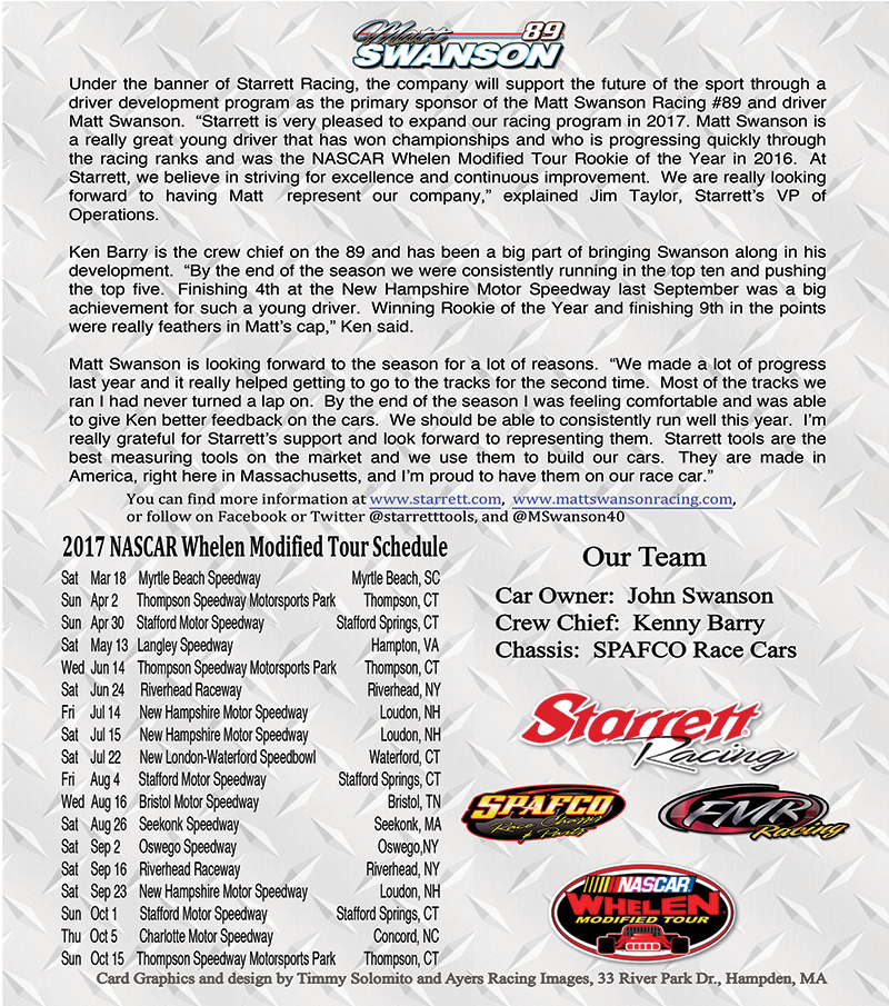 Matt Swanson Hero Card - back side