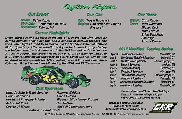 Dylan Kopec Hero Card - back side