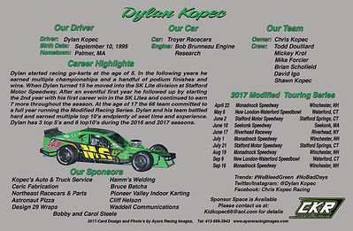 Dylan Kopec Hero Card - back side