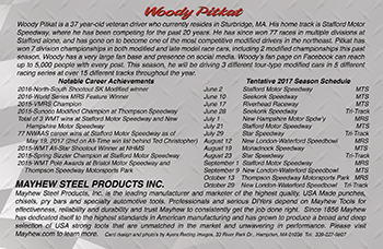 Woody Pitkat #52 Hero Card-back side