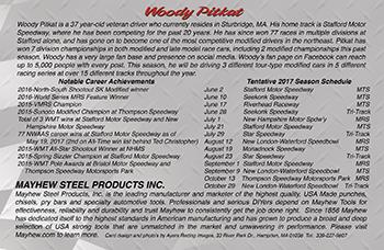 Woody Pitkat #52 Hero Card-back side