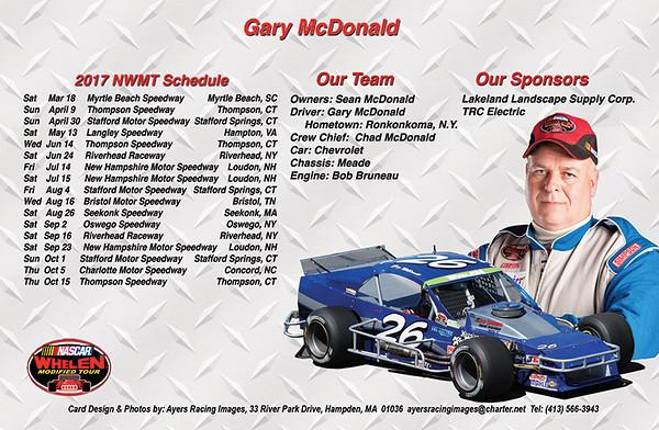 Gary McDonald Hero Card-back side