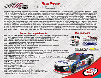 Ryan Preece Xfinity #20 Hero Card