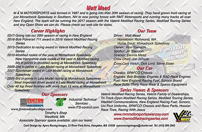 Matt Mead Hero Card-back side