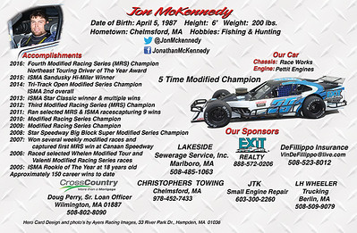 Jon McKennedy - Modified Hero Card - back side