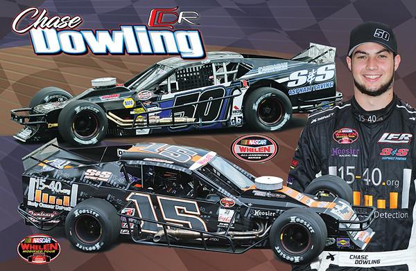 Chase Dowling Hero Card-SK Modified #50 & NASCAR Whelen Modified Tour #15