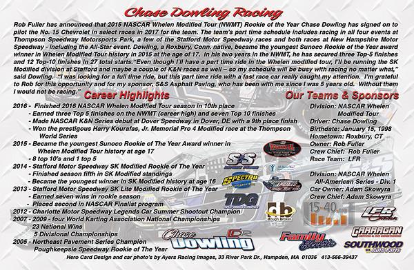 Chase Dowling Hero Card - back side