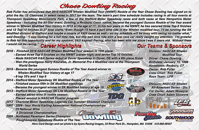 Chase Dowling Hero Card - back side