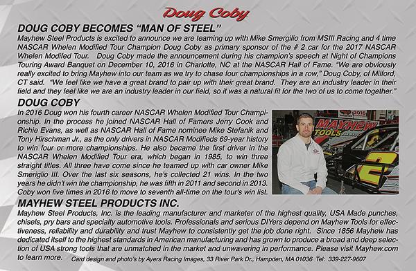 Doug Coby Hero Card - Back Side