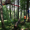 Tarzan Timbers: 4-5 of these, 2-3' off the ground. Swinging and rolling, to Challenge you!
