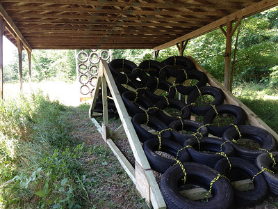 A-Tire-Frame and Tire Wall: pitching you side-to-side up and over the vertical walls and A-frame constructions. One mans trash is another mans treasure.