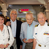 """L-R:  Debbie & Ian Smith, Roy Brynes (former SJC Major), and our local WWII """"Flying Ace,"""" Cmdr Bill Hardy."""