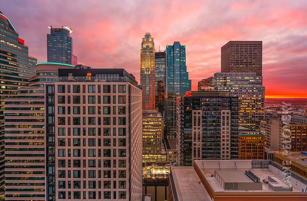 Minneapolis City - Fire Sunset