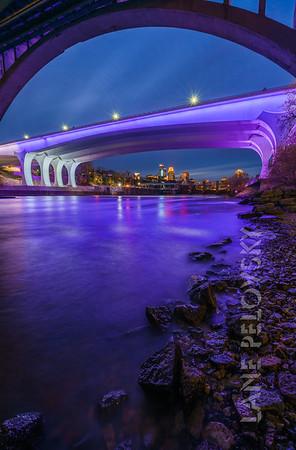 35W Bridge and Mississippi Purple