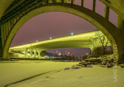 35W Bridge Yellow