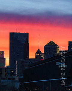 Color Bands over Minneapolis