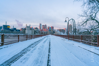 Stone Arch Bridge -  Polar Vortex - January 2019