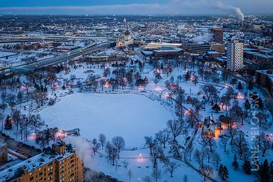Winter Vortex In Minneapolis - Loring Park
