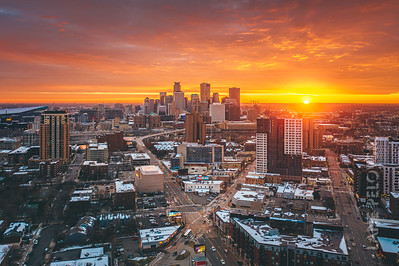 Minneapolis X - Fall Sunset