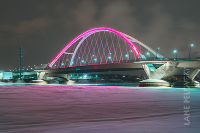 Pink Snow Drifts at Lowry