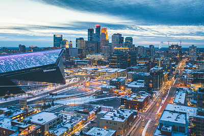 Downtown Minneapolis, MN, USA. 2021.