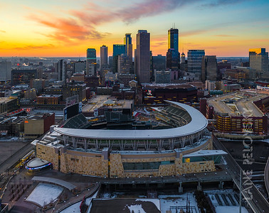 Target Field and Downtown Minneapolis