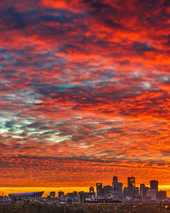 Fire Sky over Minneapolis